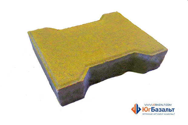 """Тротуарная плитка """"Катушка"""" 60 мм, желтая"""