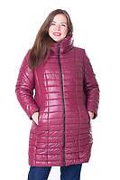 Женская стильная зимняя куртка Флави марсала (54-64)