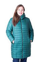 Женская стильная зимняя куртка Флави изумруд (54-64)