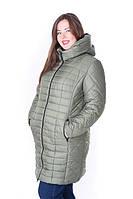 Женская стильная зимняя куртка Флави хаки (54-64)
