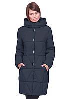 Модное стеганое пальто Санта полуприталенного фасона  42-54р