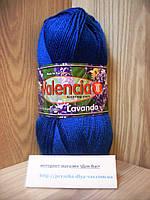 Зимняя пряжа (43%-полированная шерсть,7%-ангора,50%-акрил,100г/220м) Valencia Lavanda 023(синий)