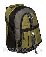 Городской рюкзак 26 л One polar W731 надежный прочный серо-зеленый