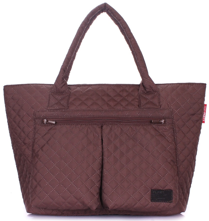 Женская сумка POOLPARTY Future future-brown коричневая