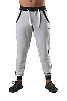 Мужские спортивные штаны  светлые с резинкой снизу