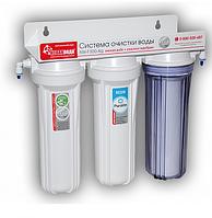 Проточный фильтр для жесткой воды с 3-х этапной очисткой воды Новая Вода NW-F300-AG