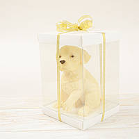 "Шоколадная фигура ""Собака лабрадор белый"" ЭЛИТНОЕ сырье. Размер: 110х120х160мм, вес 740гр , фото 1"
