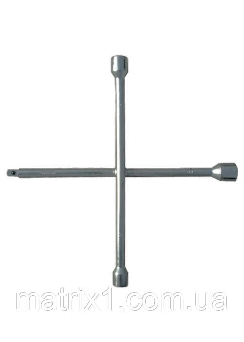 Ключ крестообразный баллонный, 17x19x21мм, под квадрат 1/2, толщина 16 мм MTX