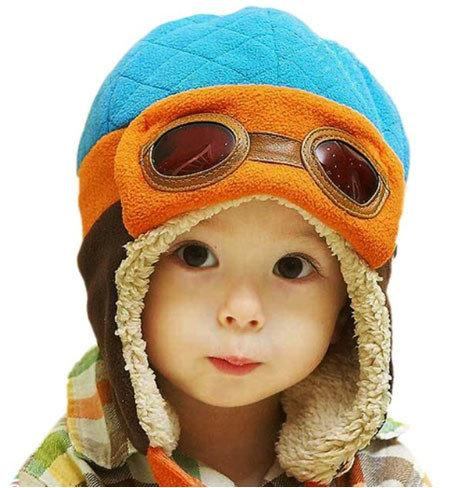 Шапка детская утепленная для мальчика Пилот