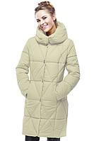 Модное зимнее пальто Санта полуприталенного фасона  42-54р