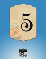 Красивый номер с рисунком на свадебный стол