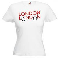Футболки с печатью London 100% хлопок