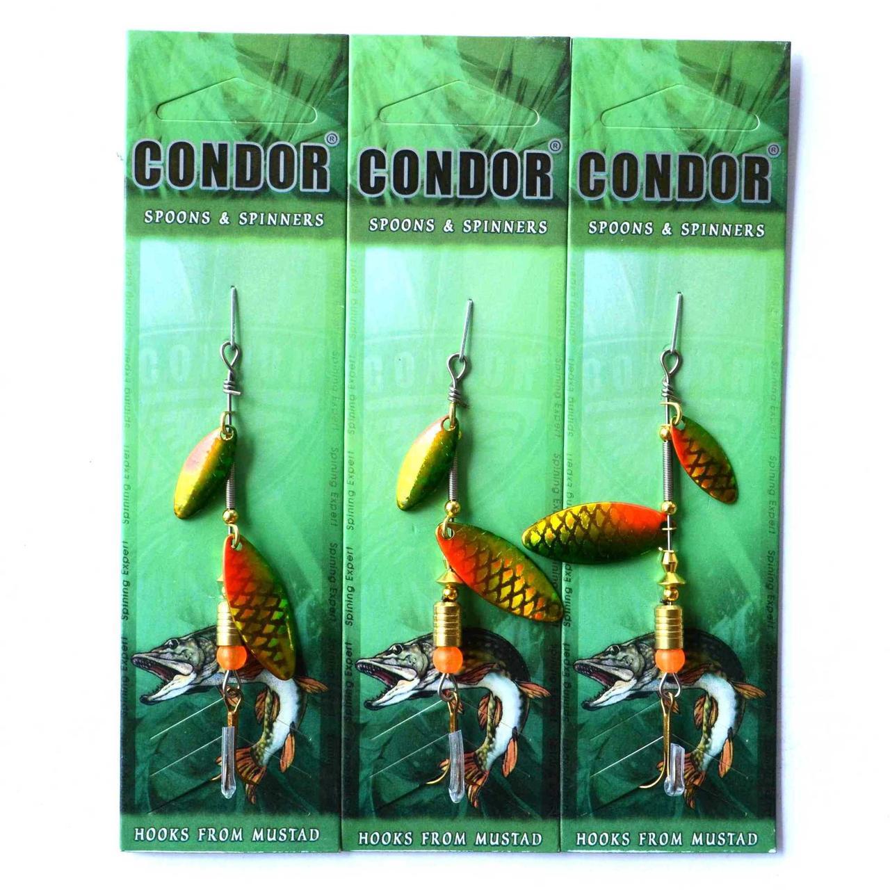 Блесна вращающаяся двойная Condor, цвет 405, 6гр