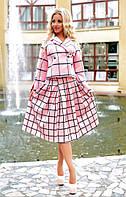 Женский костюм: кашемировый жакет и юбка (3 цвета)