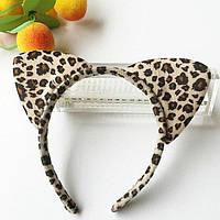 Ободок с ушками леопарда