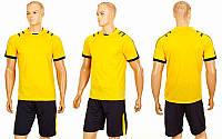 Футбольная форма Chic CO-1608-Y (PL, р-р S-2XL, желтый, шорты черные)