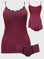 Комплект женский «WSS VS» майка + шорты с кружевом