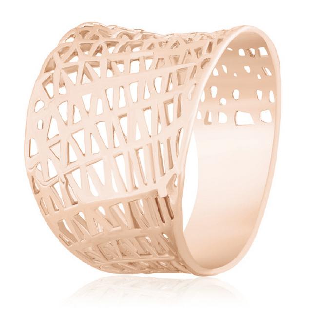 """Серебряное ажурное кольцо с позолотой """"062"""""""