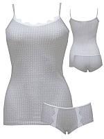 Комплект женский «WSS GR PRINT» майка + шорты с кружевом