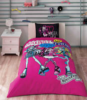 Детское постельное бельё ТАС Monster High Nightly Bundle + ночная рубашка в подарок