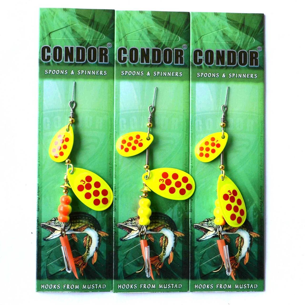 Блесна вращ. двойная Condor (Кондор), цвет 196, 8гр