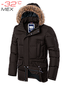 Зимняя мужская куртка с мехом на капюшоне и молнией на рукаве (4 цвета)