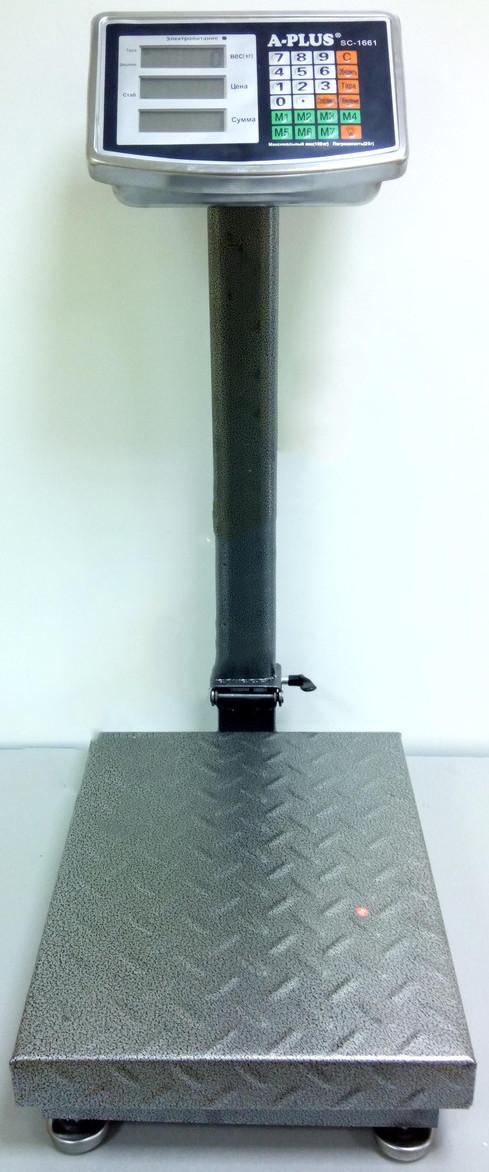 Электронные напольные торговые весы до 100 кг (електронні торгові ваги підлогові)