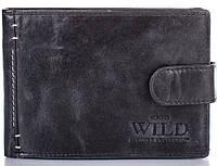 Стильный кошелек мужской из натуральной кожи,черныйALWAYS WILD(ОЛВЕЙС ВАЙЛД) DNKN992L-SBR-black