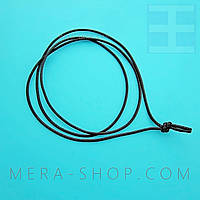Чёрный хлопковый шнурок (2,0 мм) для амулета