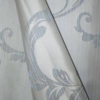 Купить атлас с рисунком ирель завиток крупный серый