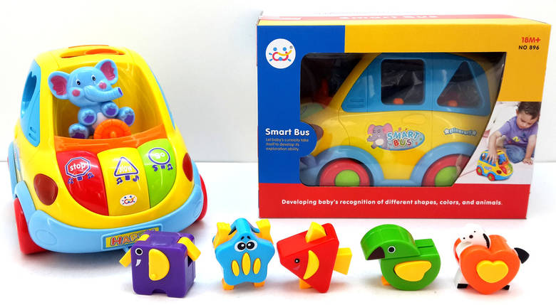 """Игрушка-сортер Huile Toys """"Умный автобус"""" (896), фото 2"""