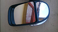 Зеркало боковое Газель,Соболь нового образца (с поворотником) левое, белое (пр-во Truckman)