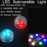 Светодиодная RGB подсветка для аквариумов, фонтанов, водоемов, кальянов с пультом, фото 6