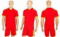 Футбольная форма Chic CO-1608-R (PL, р-р S-2XL, красный, шорты красные)