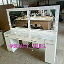Стол для визажиста на два рабочих места, зеркало с подсветкой, фото 2