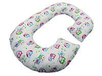 Подушка для беременных KIDIGO Рогалик - Сова (с наволочкой) PDV-R1