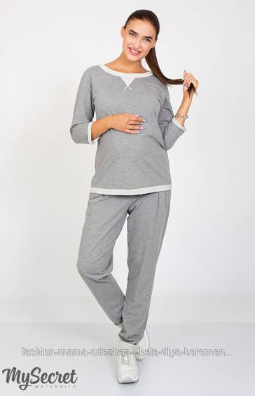 Стильные брюки для беременных Sonic серый меланж -            Интернет-магазин «Fashion-Mama» в Днепре