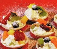 Хрустящие тарталетки из арбуза и дыни