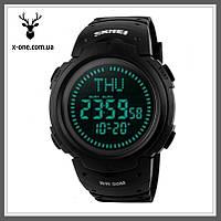 Спортивные часы с Компасом Skmei 1231. Black. Водонепроницаемость 50 м.