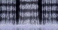 Гирлянда уличная светодиодная (LED) водопад (белая), 3х3 м.