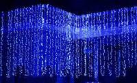 Гирлянда водопад светодиодная (LED) синий цвет, 672 лампы, 3 x 2,5 м.