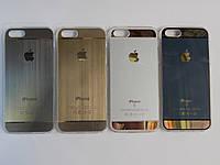 Силиконовые чехлы для iphone6+/6s+ накладки золото, серый, метталик, голубой космосс
