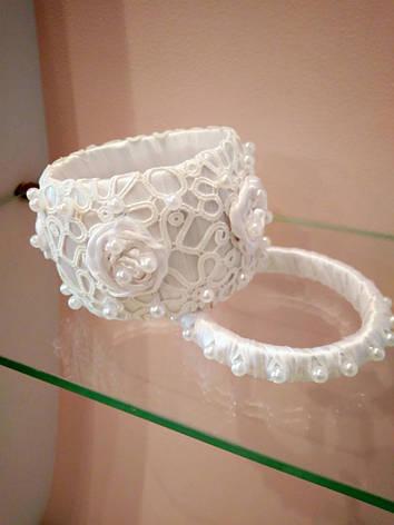 Набор браслетов белый, фото 2