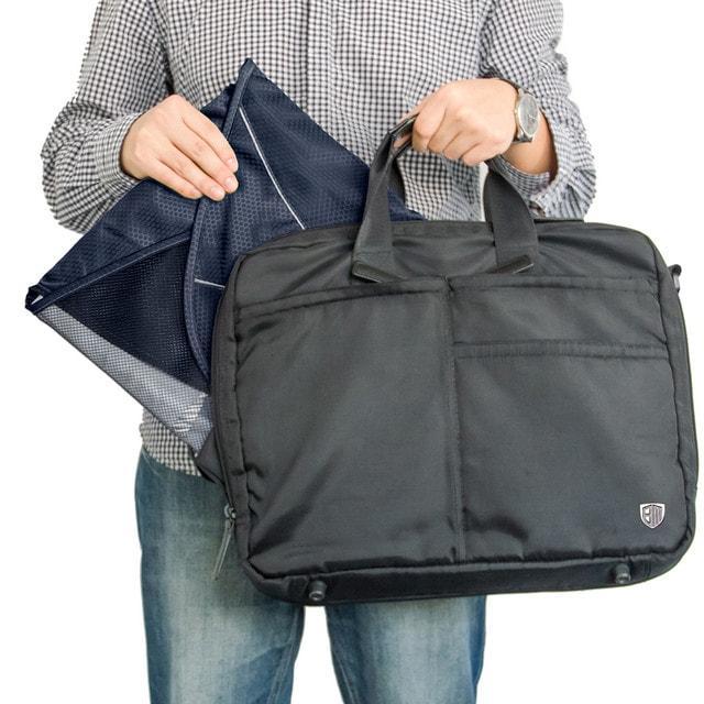 Папка-органайзер для рубашек синяя в сумке