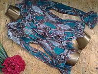 Блузка плиссе голубой 6085 АКЦИЯ!!! 44-50р