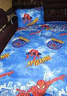 Детский полуторный комплект Спайдермен (Человек-паук), бязь (хлопок)