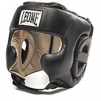 Тренировочный шлем для бокса LEONE TRAINING BLACK