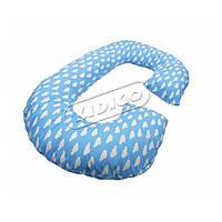 Подушка для беременных KIDIGO Рогалик - Облака (с наволочкой) PDV-R4