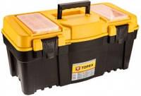 """Пластиковый ящик для инструментов topex 79r126 25"""" с алюминиевой ручкой"""