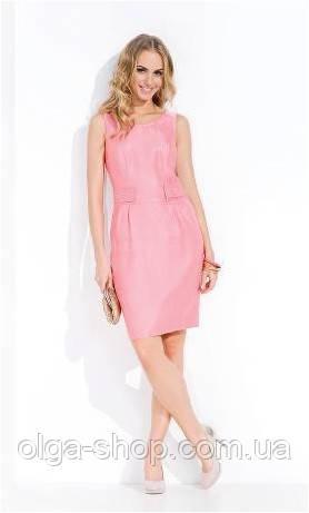 Платье женское летнее без рукавов ZAPS LINA, голубое, розовое